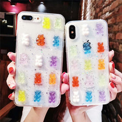 3D Jelly Bear iPhone Case