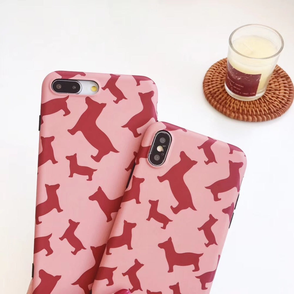 Pink Dog Matte iPhone Case