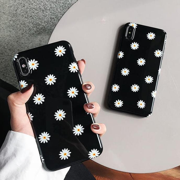 Black Daisy iPhone Case