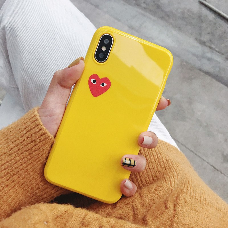 Glossy Comme des Garcons iPhone Case