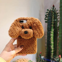 3D Dog Plush iPhone Case