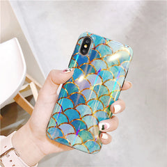 Mermaid Scales + PopSocket iPhone Case