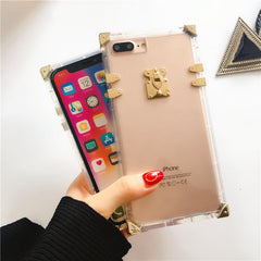 Luxury Clear Square iPhone Case