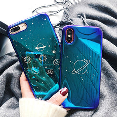 Blue Space iPhone Case