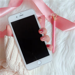 Little Heart White Glossy iPhone Case