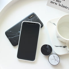 Marble + PopSocket Holder iPhone Case