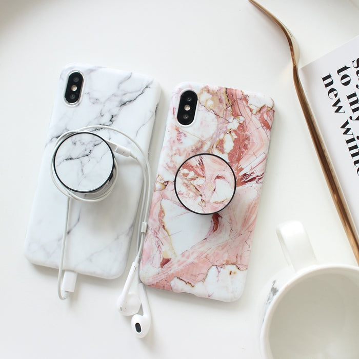 new product c2bda f6a72 Marble + Holder iPhone Case – Mermaid Case