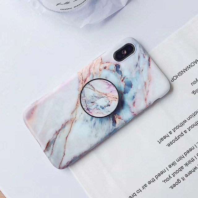 new product 802d6 f9c52 Marble + Holder iPhone Case – Mermaid Case