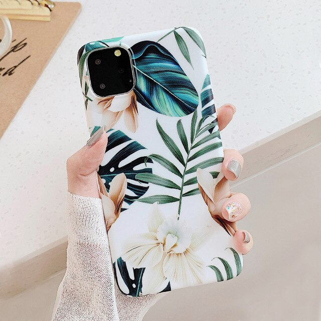 White Floral iPhone Case