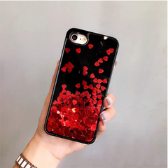 Love Heart Quicksand iPhone Case
