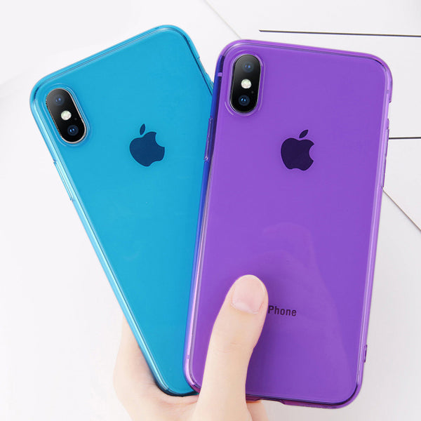 Colorful Transparent Silicone iPhone Case
