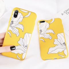 White Petals Soft Matte iPhone Case
