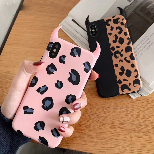 Devil Horn Leopard iPhone Case