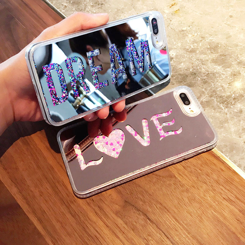 Dream & Love Quicksand Glitter iPhone Case