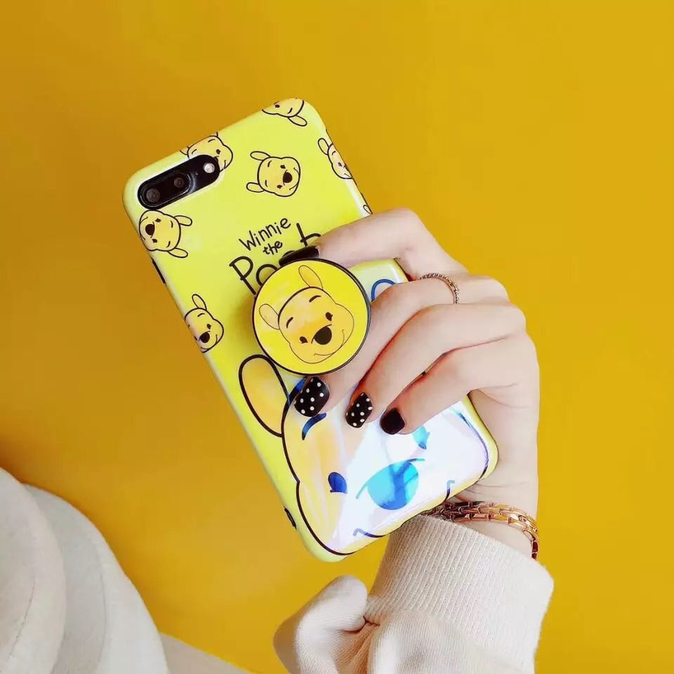 buy popular 9df32 9f177 Winnie the Pooh and Piglet + Holder iPhone Case – Mermaid Case