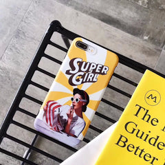 Super Girl Retro iPhone Case