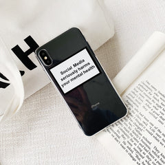Social Media Alert Transparent iPhone Case