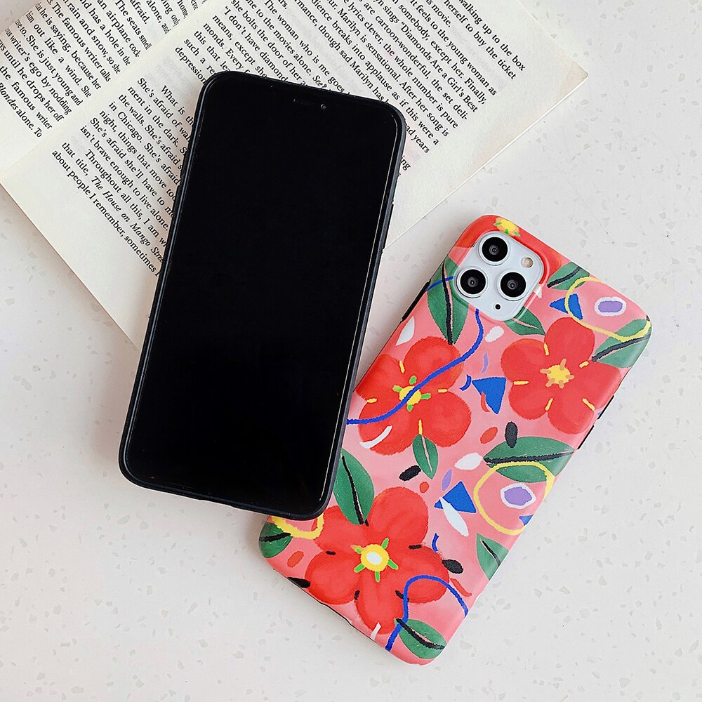 Red Floral iPhone Case