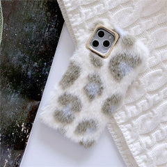 Leopard Faux Fur iPhone Case