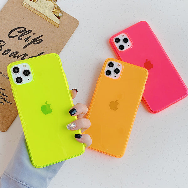 Neon Transparent iPhone Case