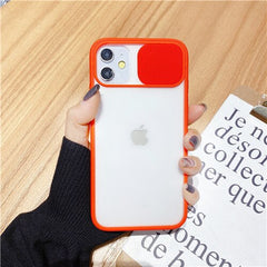 Transparent Camera Shield Shockproof iPhone Case