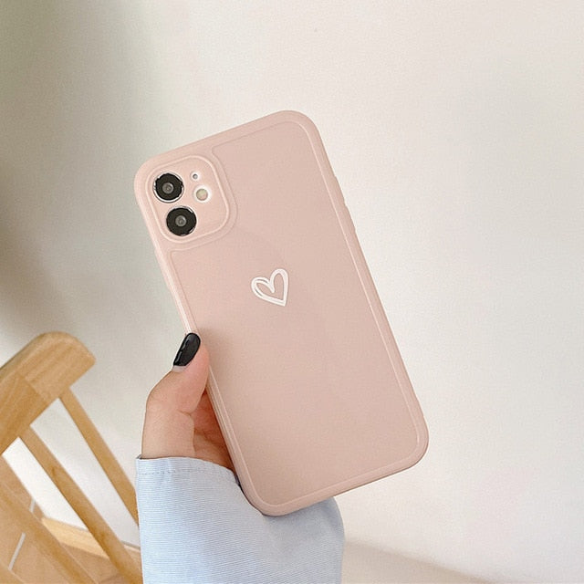 Heart Camera Protection iPhone Case