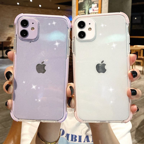 Glitter Shockproof Transparent iPhone Case
