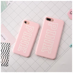 Lucky Seven & Pink Silicone iPhone Case