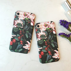 Cherry Floral iPhone Case
