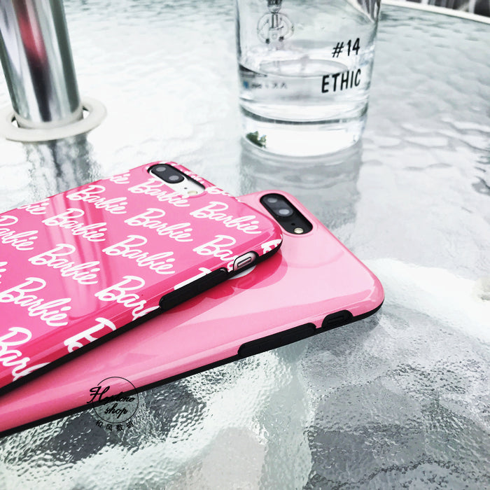 Barbie Pink Glossy iPhone Case