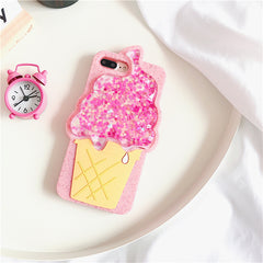 3D Ice Cream Quicksand iPhone Case