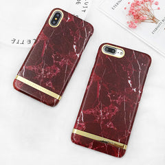 Wine Red Marble iPhone Case