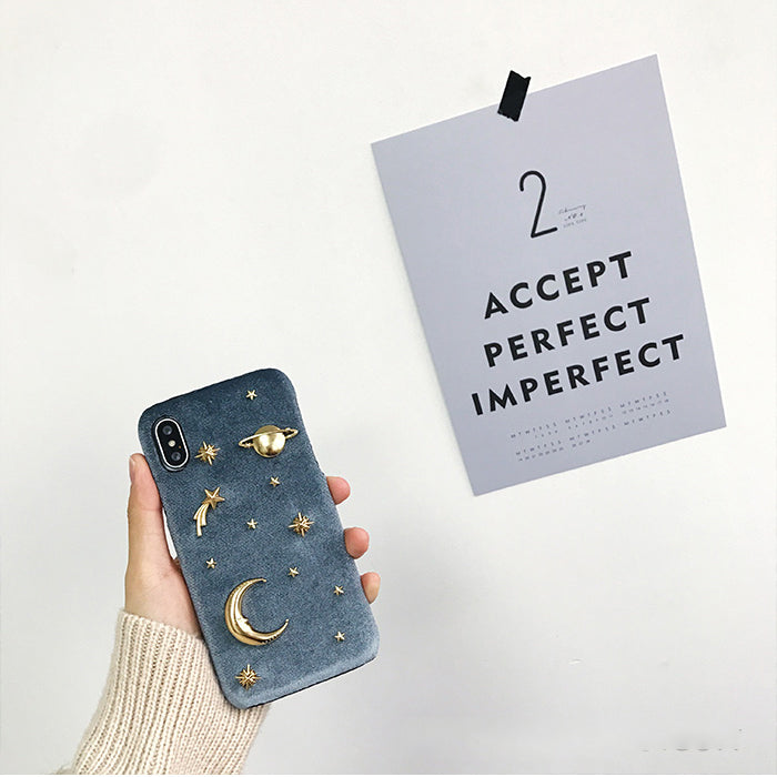 3D Golden Space iPhone Case