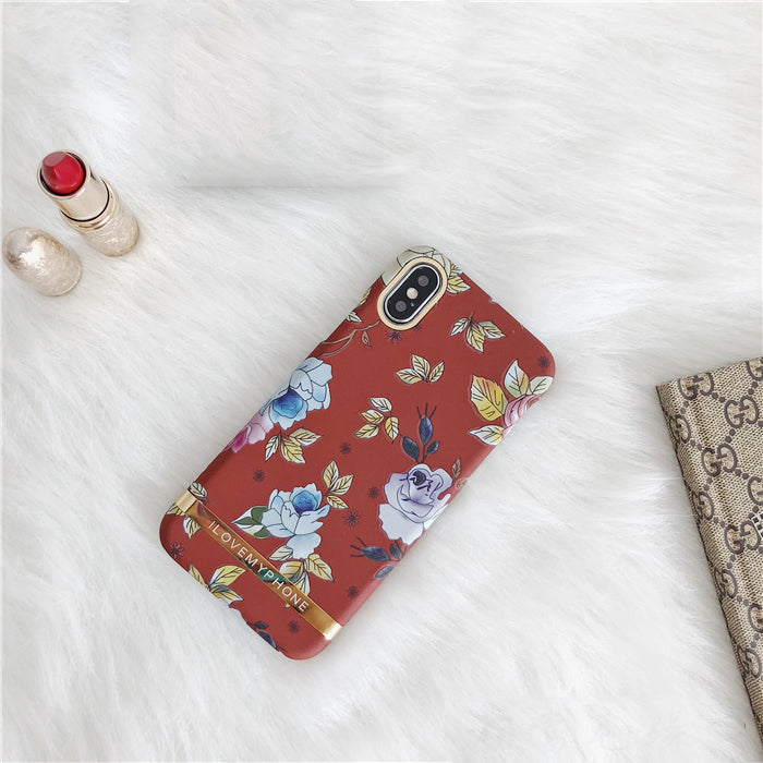 Vintage Flower Red iPhone Case