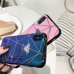 Diamond Geometry Splice iPhone Case