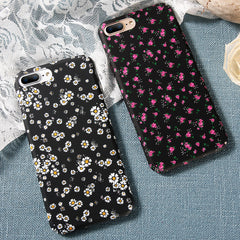 White or Purple Flower Back Cover iPhone Case