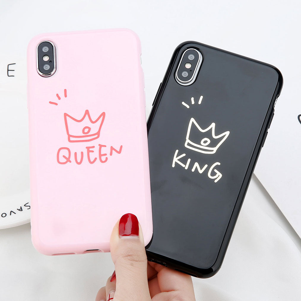 King & Queen Glossy iPhone Case