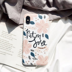 Retro Flower Leaf iPhone Case