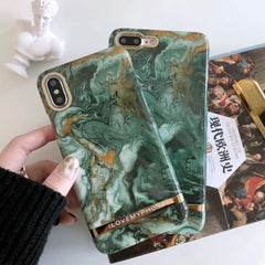 Emerald Green Marble iPhone Case