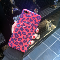 Red Leopard iPhone Case