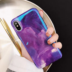 Purple Sky Glossy iPhone Case