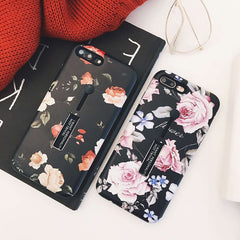 Retro Flowers Holder iPhone Case