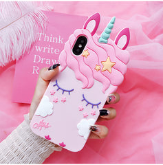 3D Pink Unicorn iPhone Case