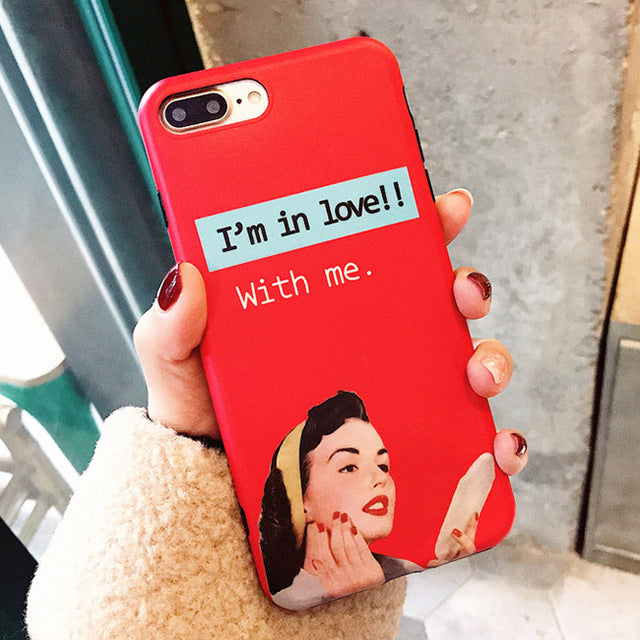 Retro Cool Girl iPhone Case