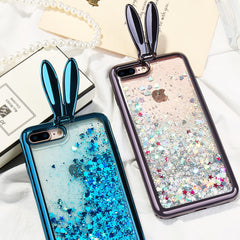 Glitter Quicksand Rabbit Ear iPhone Case