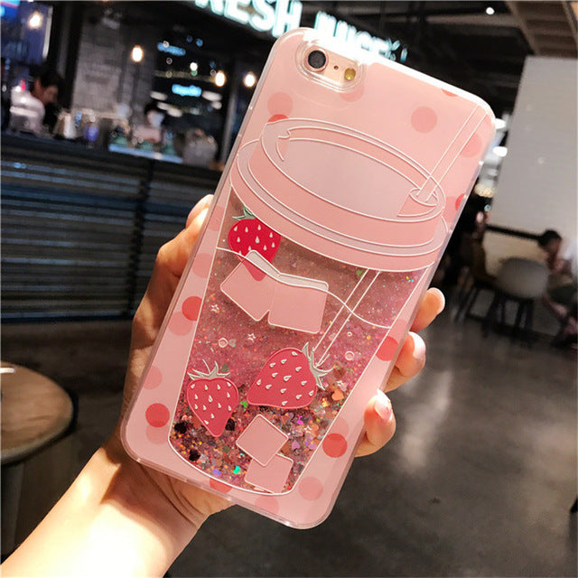 Glitter Summer Drink Cup iPhone Case