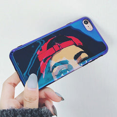 Hip-Hop Girl Glossy iPhone Case