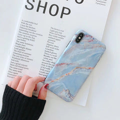 Colorful Art Pattern Marble iPhone Case