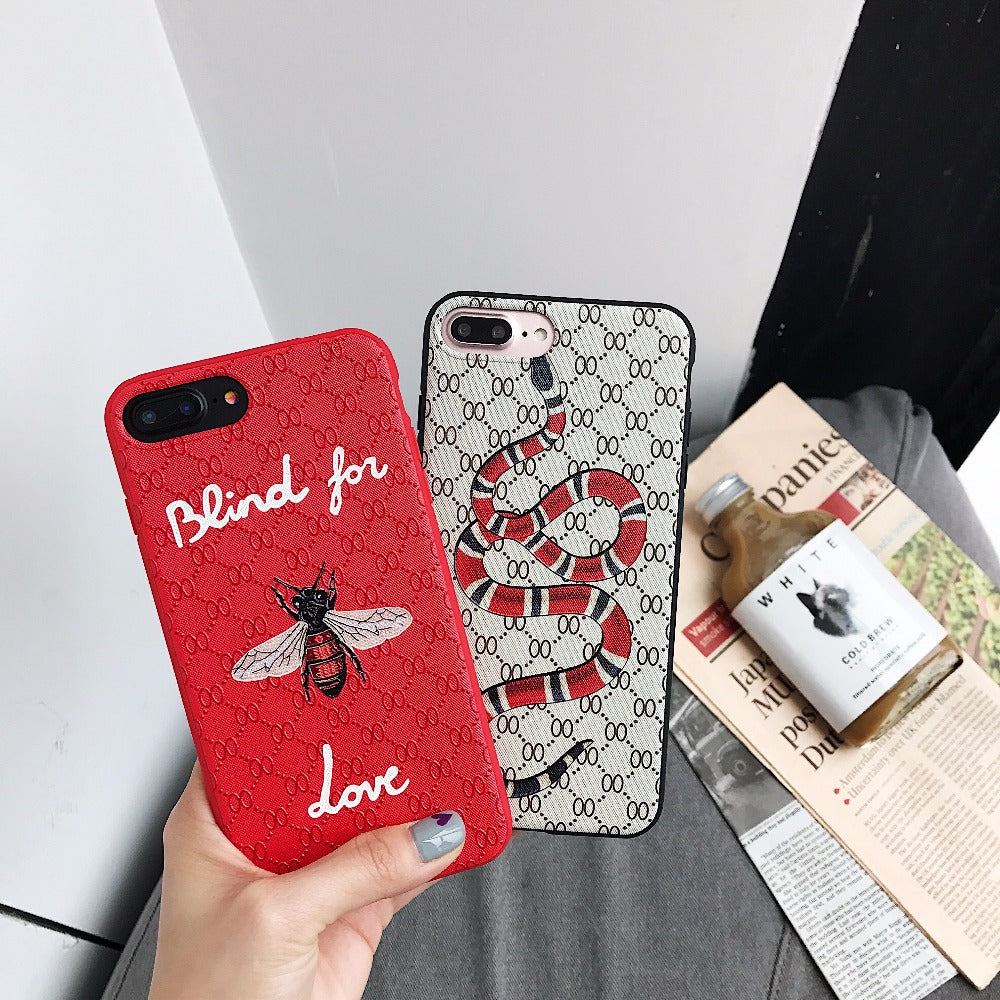 Luxury Snake & Bee iPhone Case