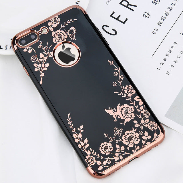 Retro Flower Glossy iPhone Case